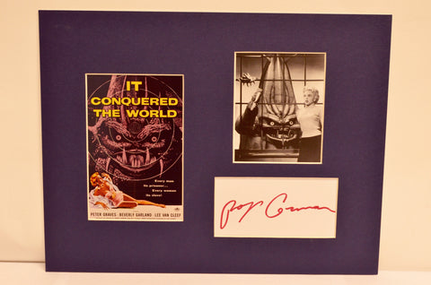 """It Conquered The World"" Collage with Roger Corman Autograph (includes COA)"