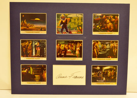 """Forbidden Planet"" Collage with Anne Francis Autograph (includes COA)"