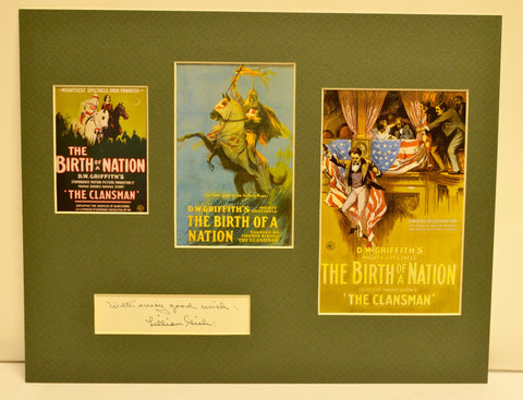 """The Birth of a Nation"" Collage with Lillian Gish Autograph (includes COA)"