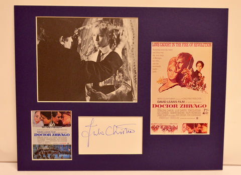 """Doctor Zhivago"" Collage with Julie Christie Autograph (includes COA)"
