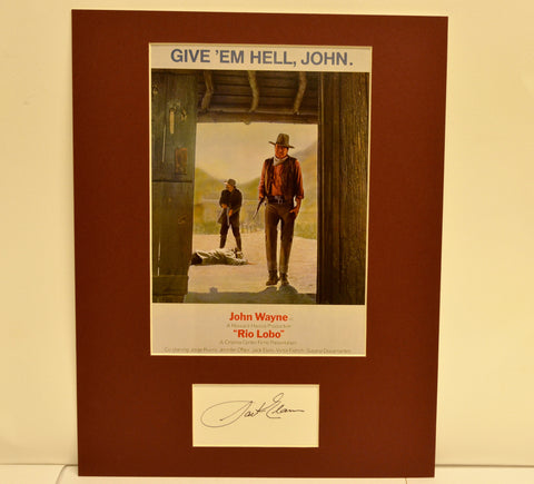 """Rio Lobo"" Collage with Jack Elam Autograph (includes COA)"