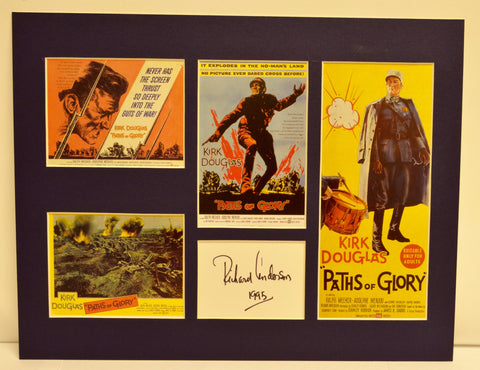 """Paths of Glory"" Collage with Richard Anderson Autograph (includes COA)"