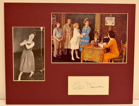 Ethel Merman Collage and Autograph (includes COA)