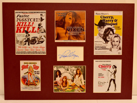Russ Meyer Film Collage with Autograph (includes COA)