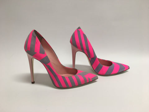 LORIBLU Pink and Grey Stiletto Heels (Used)