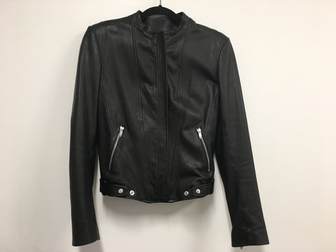 Theyskens' Theory Janner Black Leather Jacket - Size M