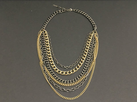 Costume Jewelry - St. Thomas Multi-Strand Chain-linked Necklace