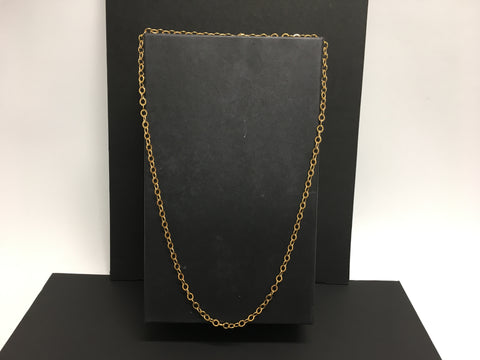 "Costume Jewelry 16"" Gold Chain Necklace"