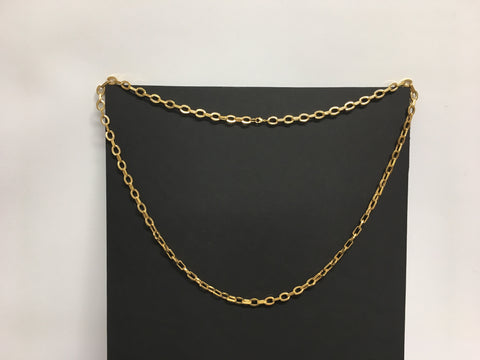 "Costume Jewelry 18.5"" Gold Chain Necklace"