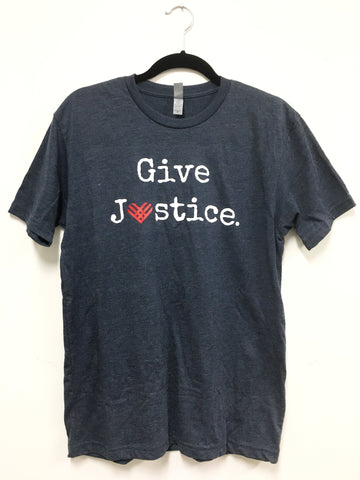 "Public Counsel ""Give Justice"" T-Shirt (Blue)"