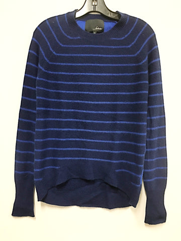 LINE Knitwear Striped Cashmere Midnight Sweater - Size Small/Petite