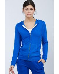 MONROW Classic Blue Full Zip Hoodie - Size Small