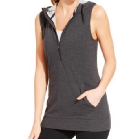 NIKE Women's Dri-Fit Half Zip Sleeveless Hoodie - Size Small (New)