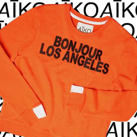 AIKO Bonjour Los Angeles Sweatshirt - Size Small