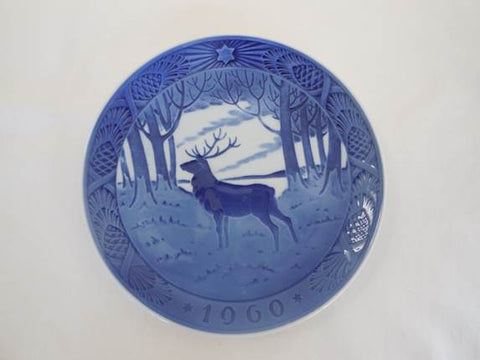 "1960 Royal Copenhagen Christmas Plate - ""The Stag"""