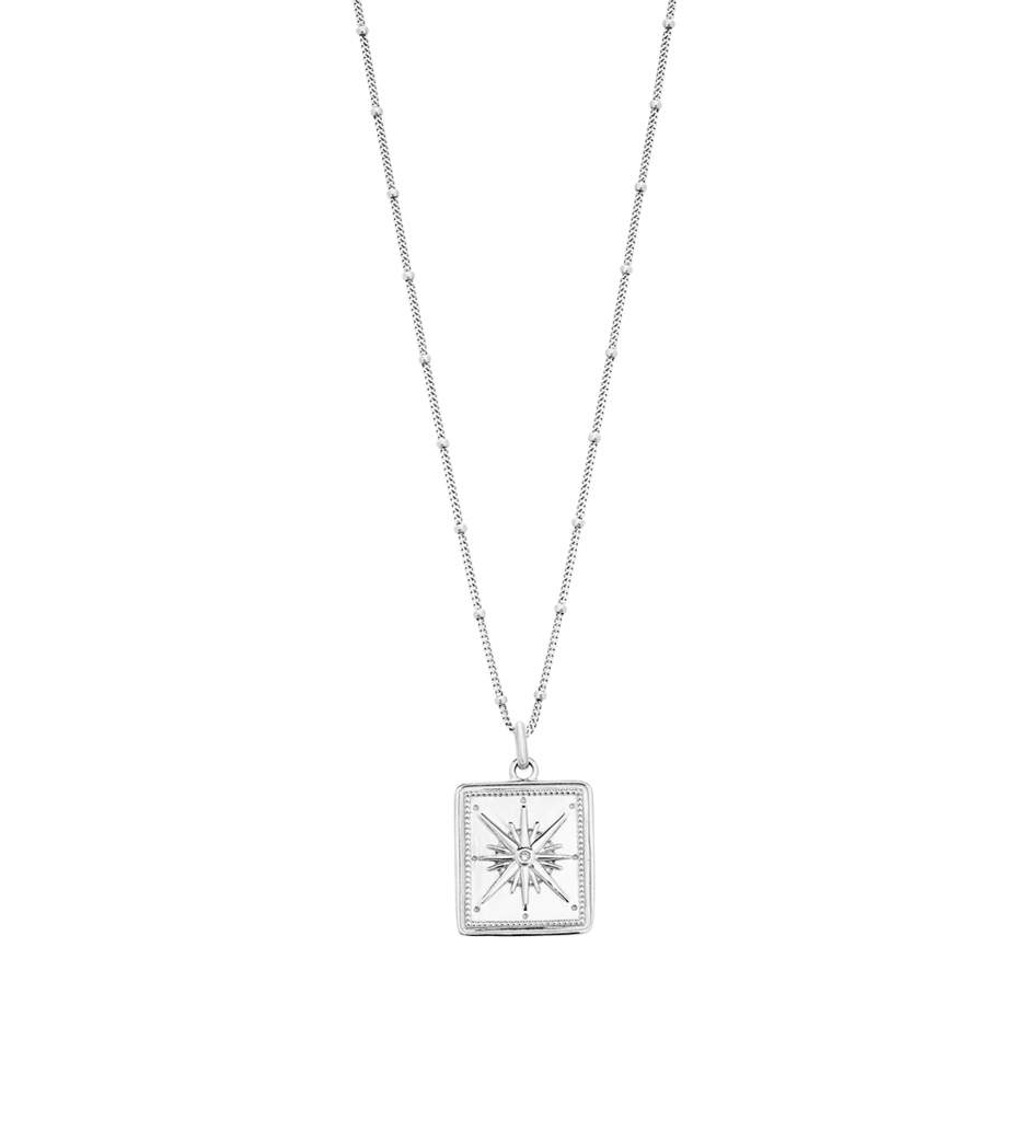 True North Coin Necklace - Silver