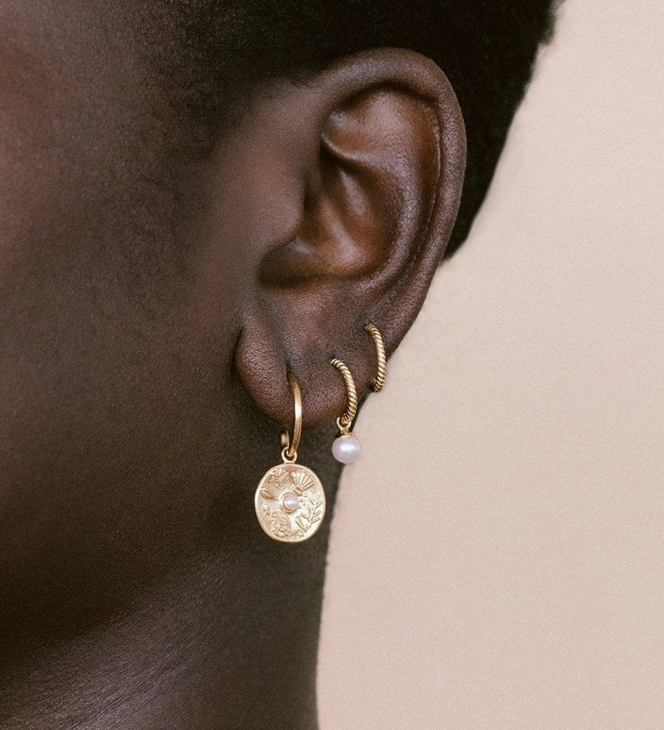 By the Sea Hoops - 18K Gold-Plated