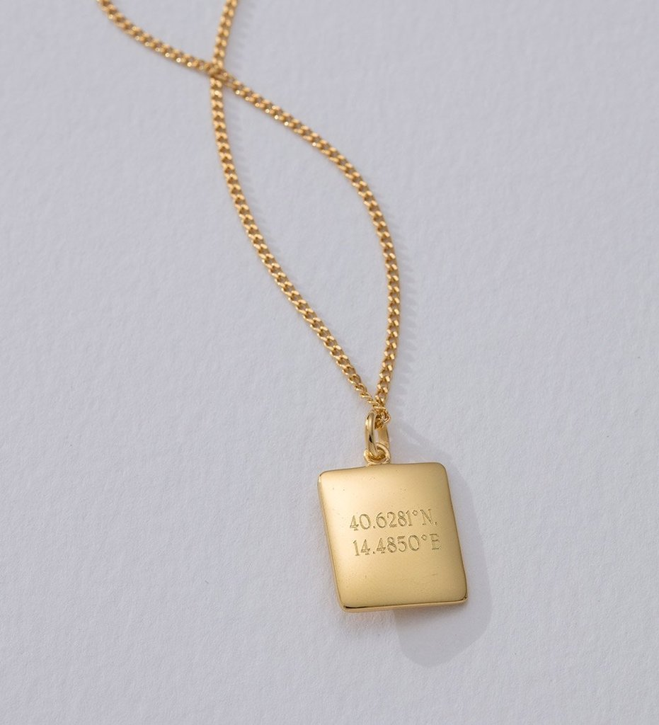 True North Coin Necklace - 18K Gold Vermeil
