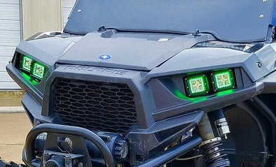 Polaris RZR 1000 LED CUBE w/ MULTI COLOR HALOS