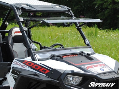 Polaris 1000 Scratch Resistant Flip Windshield