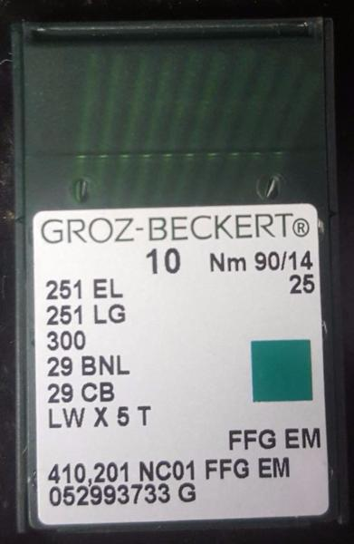 NGB-251LG (10-PACK) GROZ-BECKERT BLINDSTITCH MACHINE NEEDLE