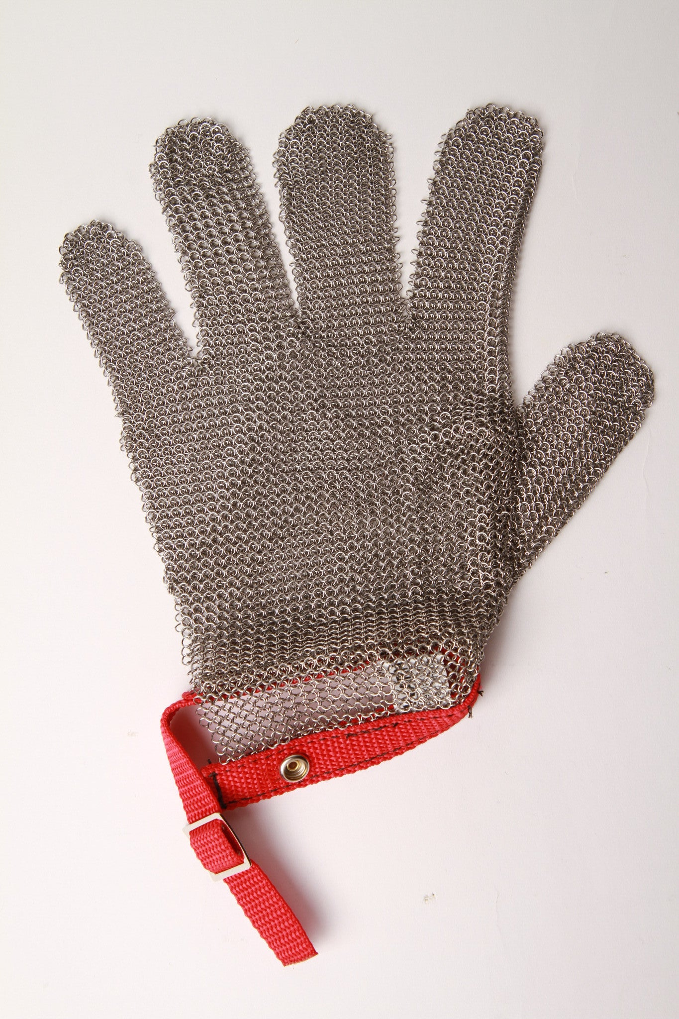 Medium sized left 5 fingers metal mesh glove