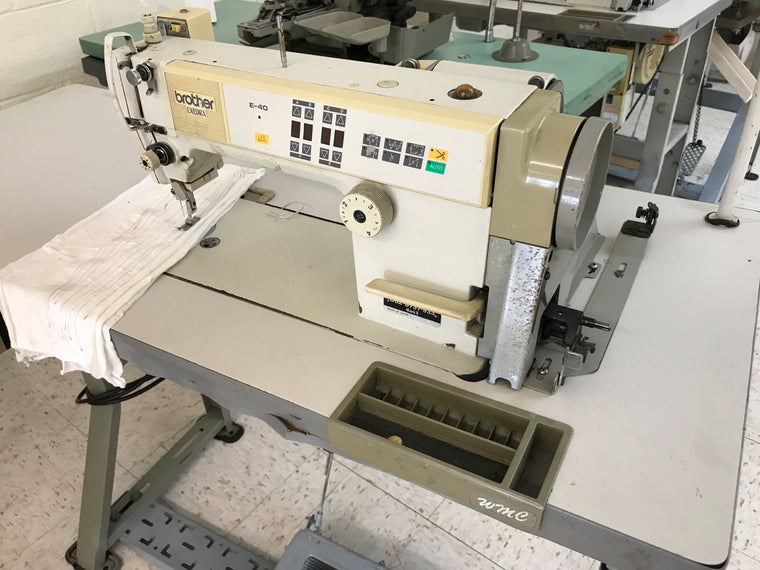 PRE-OWNED BROTHER DB2-B737-933 AUTOMATIC SINGLE NEEDLE MACHINE