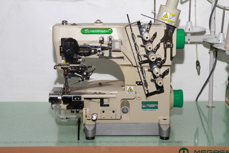 MJ6200D364 Automatic Small Cylinder Coverstitch with Hemming Guide
