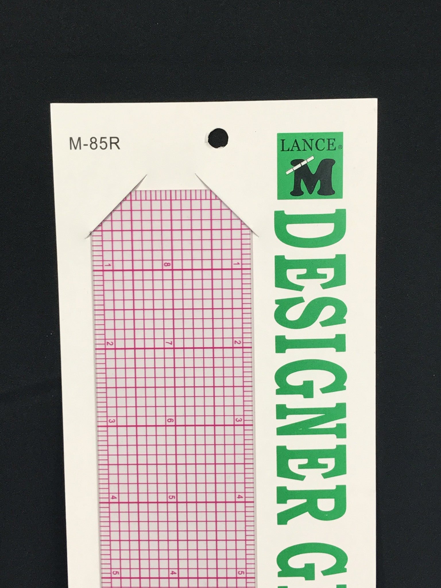 LANCE M85R DESIGNER GRAPHIC RULER 18""