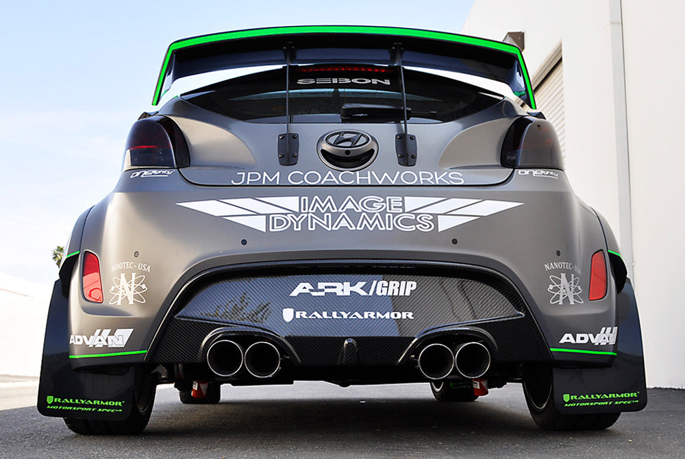 ARK Carbon Fiber GT Wing with Brackets and Spacers Hyundai Veloster Turbo 13-14
