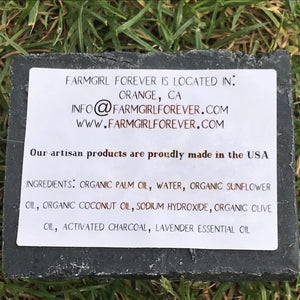 Lavender Charcoal Bar Soap Ingredients