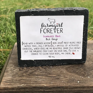 Lavender Charcoal Bar Soap