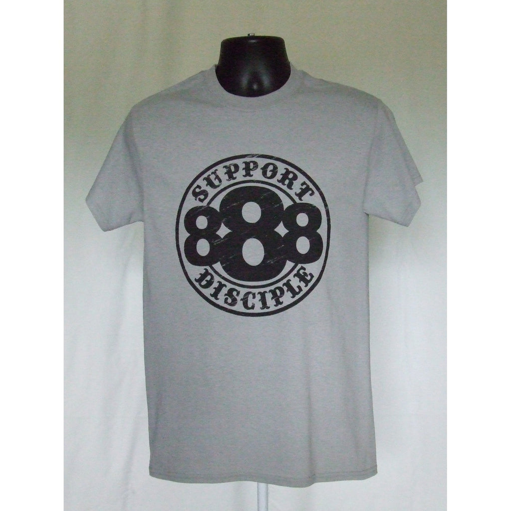 Gray 888 Support Shirt-Disciple Christian Motorcycle Club
