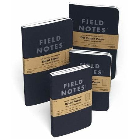 Field Notes - Pitch Black Edition - 3 Pack