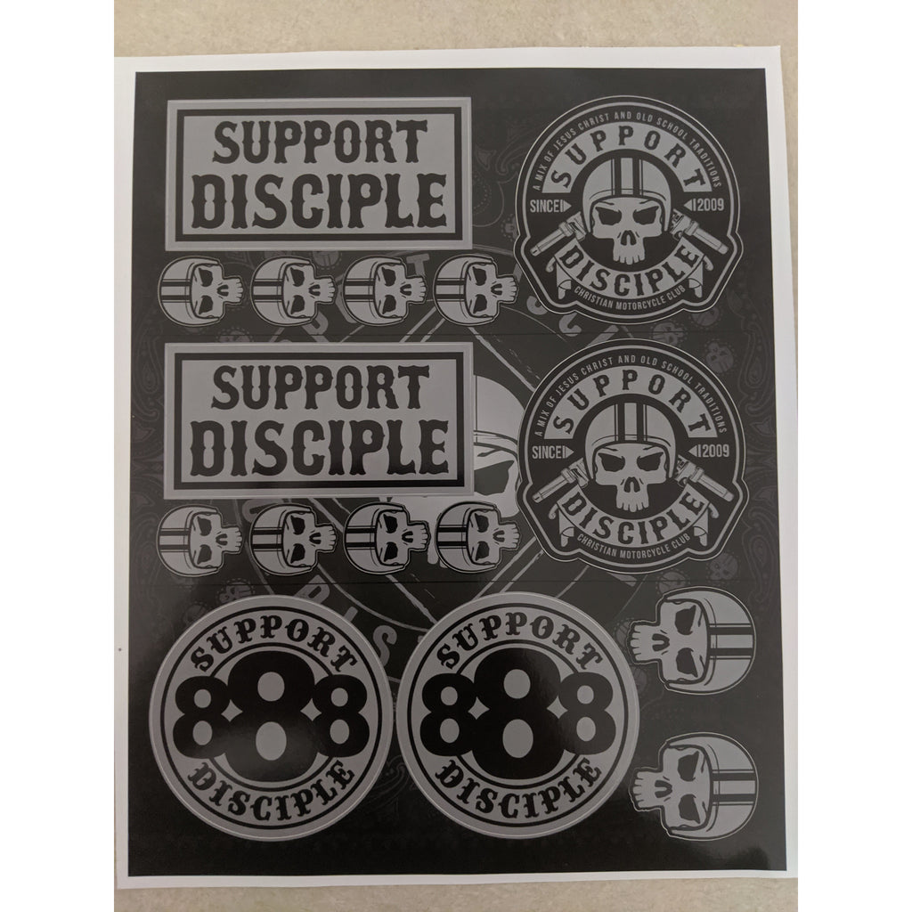 Support Disciple Lazarus Decal Sticker Sheet