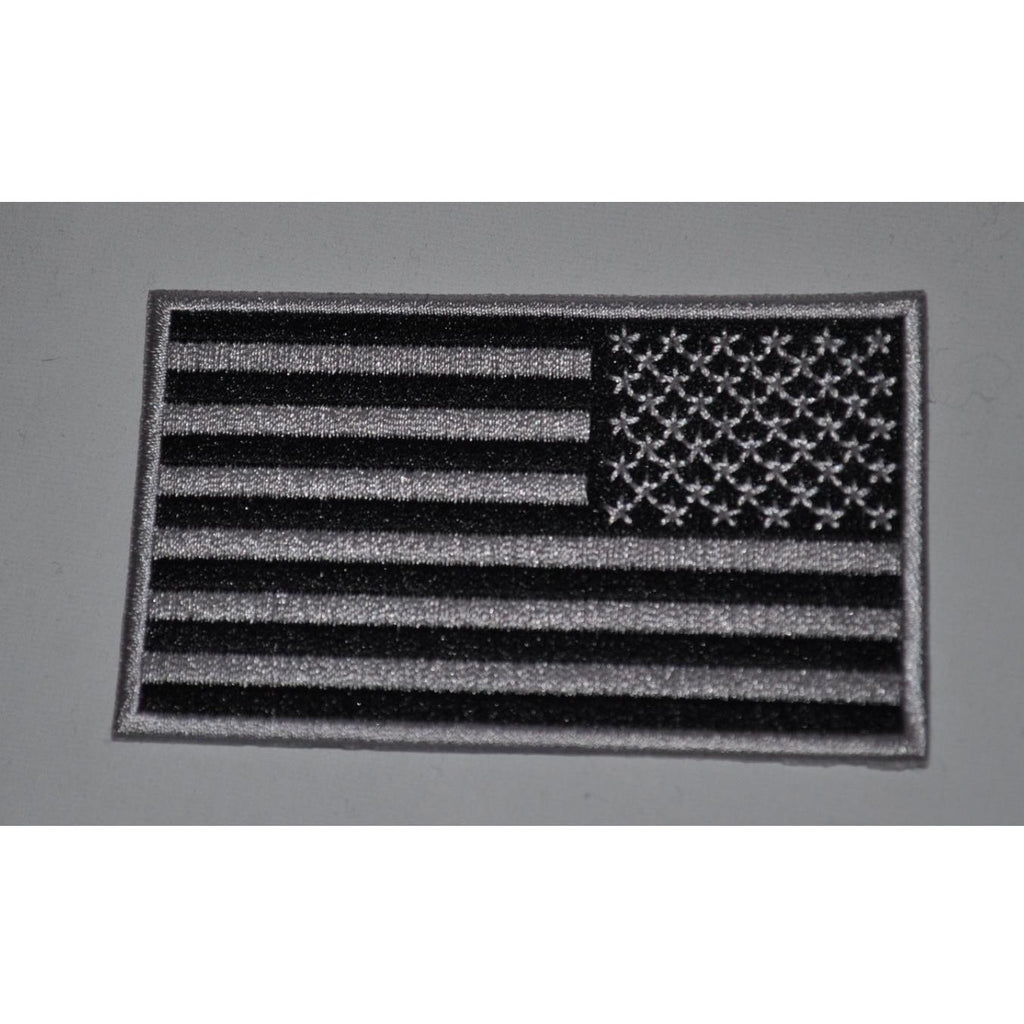 Black & Grey Reversed American Flag Patch