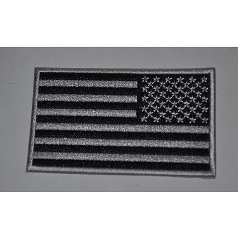 03. Black & Grey Reversed American Flag Patch