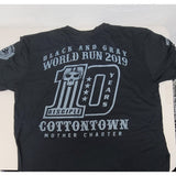 Black and Gray World Run 2019 T-Shirt & Patch