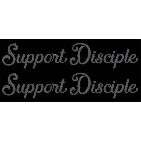 Support Disciple Script Decals 2-Pack
