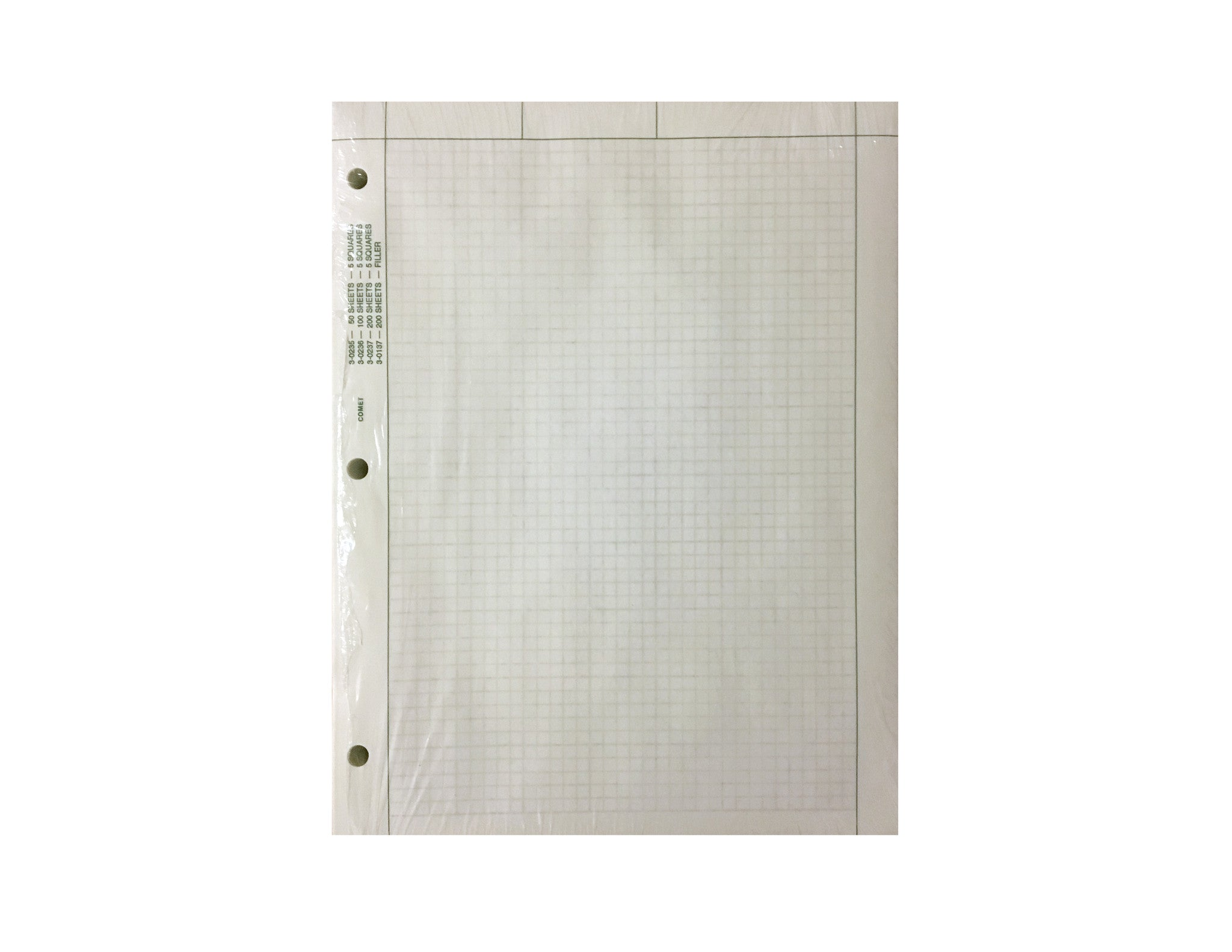 "Engineering Paper, 500 sheets, 8.5"" x 11"" (Loose Leaf) 5 squares/inch, Green Tint"
