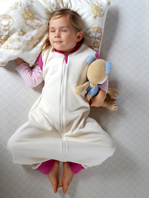 SLEEP SACK WITH OPEN LEGS PIONY PINK