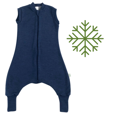 2-LAYER MERINO WOOL SLEEP SACK WITH OPEN LEGS