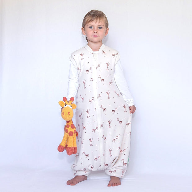 SLEEP SACK WITH OPEN LEGS PLAYFUL GIRAFFE