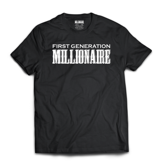 First Generation Millionaire High Fashion Color Tee (White Logo)-First Generation Millionaire