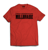 First Generation Millionaire T-Shirt (Black Logo)-First Generation Millionaire