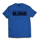 First Generation Millionaire T-Shirt (Black Logo) - First Generation Millionaire
