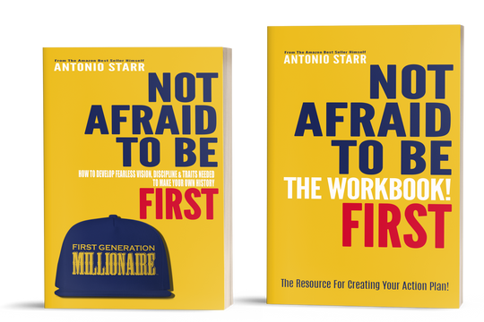 Not Afraid To Be First - Book and Workbook Bundle (40% OFF with code