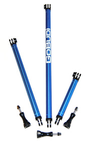 GoBUDi Extension Pole Set - 4 inch, 8 inch, and 12 inch + extras