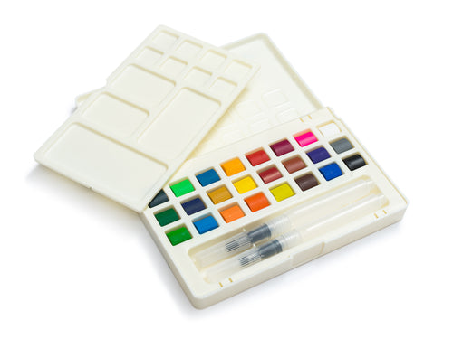 Umiko Watercolor Field Sketch Set - 24 Assorted Watercolors by Artistrove
