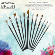 Paint Brush (Set of 12) - Acrylic, Watercolor & Oil Painting By Artistrove